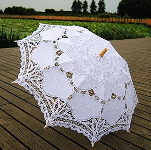White-lace-parasol