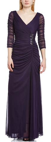 eggplant-purple-veiled-beaded sash-gown