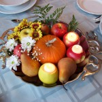 Fall wedding centerpieces with pumpkins