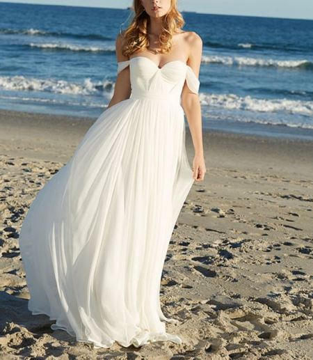Casual wedding dresses outdoor weddings outside the for Wedding dresses for outside