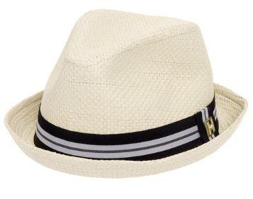 Beach formal attire men's headwear white