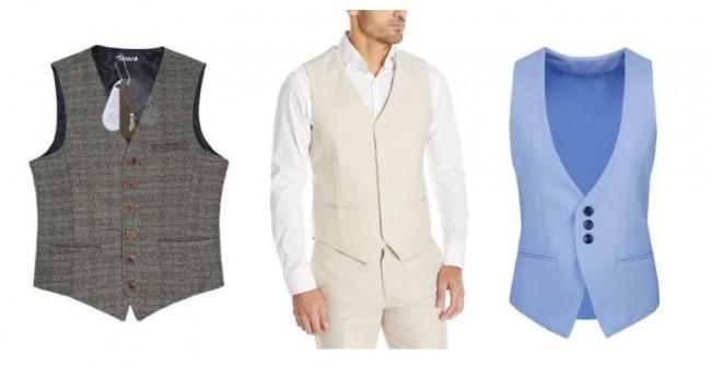 Men sleveless formal vest