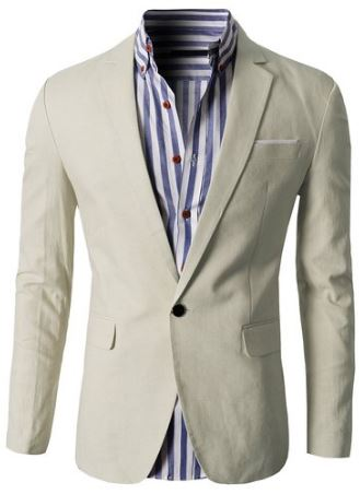 Men jacket for a beach wedding off-white