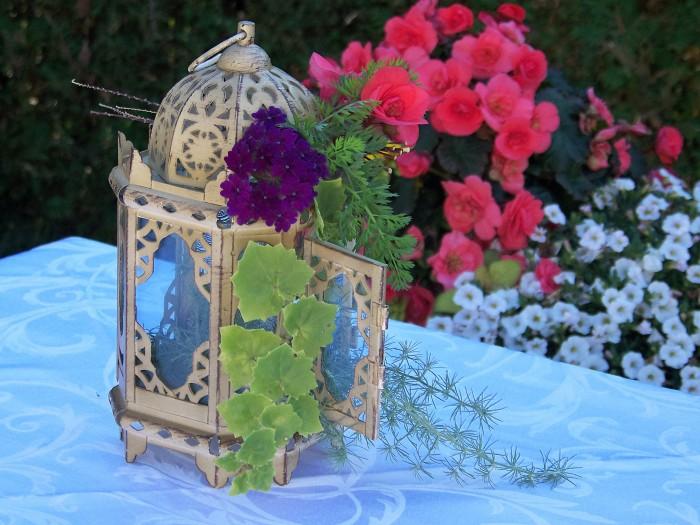 DIY lantern wedding centerpieces