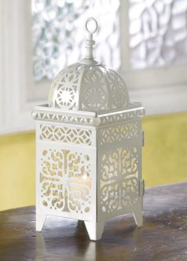White exotic wedding lantern
