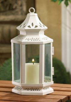 White candle lantern for weddings