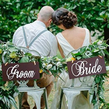 Bride and groom seat decoration
