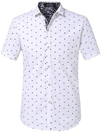 Short sleeves beach nautical design