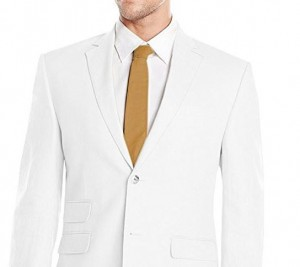 White linen jacket and pants for men