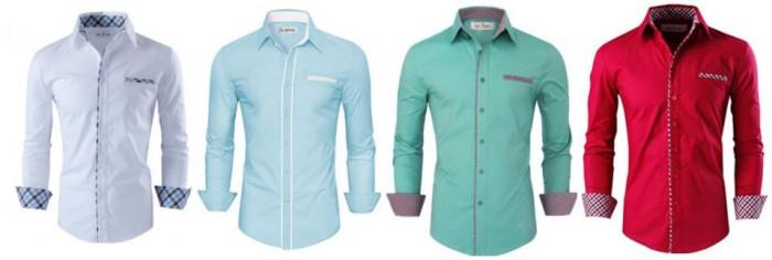 Beach wedding dress shirts colors