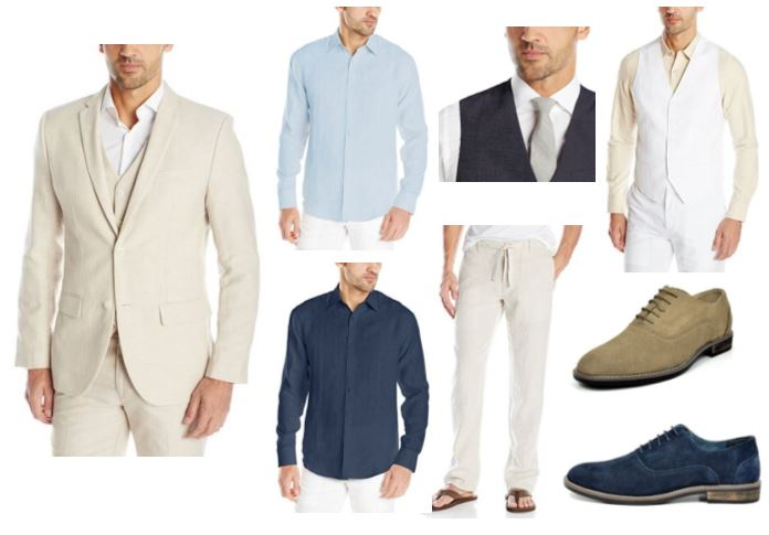 Men Linen Beach Wedding Attire