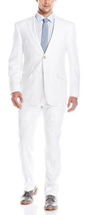 Men beach wedding linen suit