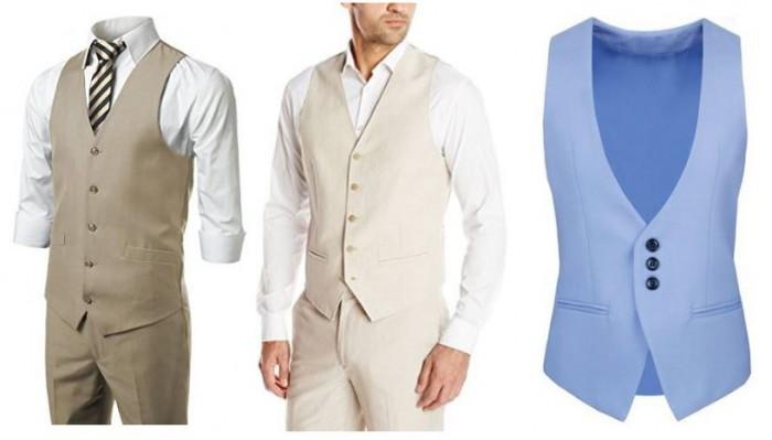 Beach wedding sleeveless vest