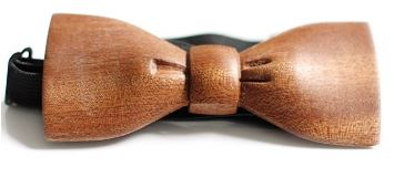 Casual and formal wooden bow tie