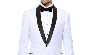 Black and white wedding tuxedo