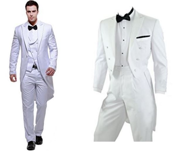 Classic Wedding Tuxedo - Elegant Black or White Styles - Outside ...