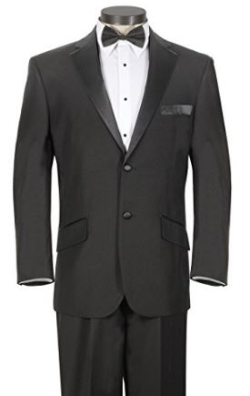 Black jacket and pants wedding tuxedo