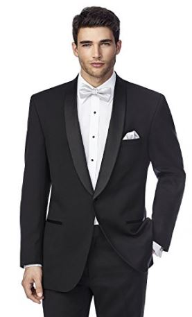 Elegant black shawl tuxedo blazer