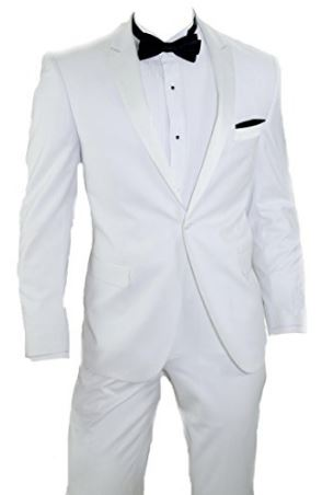 White Wedding Tuxedos - Groom and Groom\'s Men Tuxedos - Outside The ...