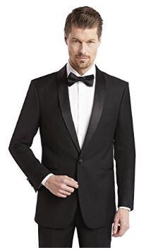 Shawl satin collar black tuxedo