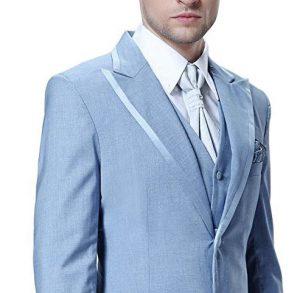 Sky blue wedding tuxedo