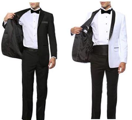 Wedding tuxedo black cummerbund