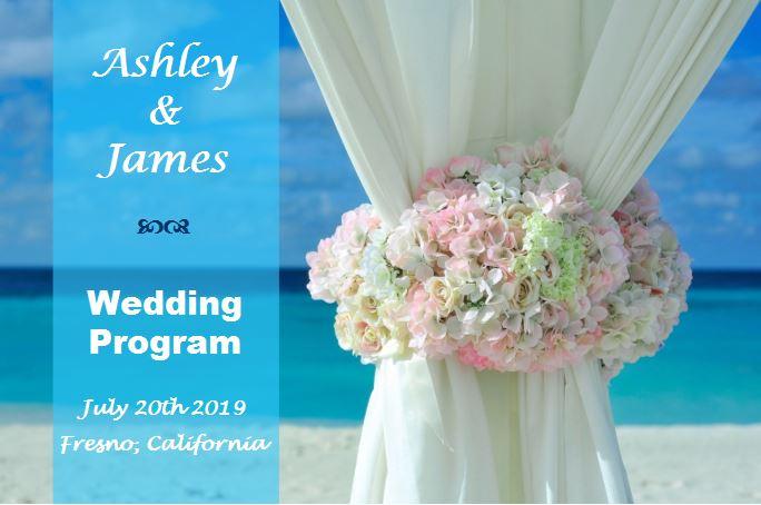 Paradise beach wedding program