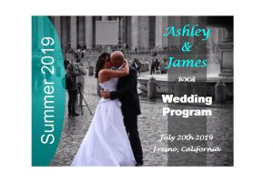 Wedding program fan Free template