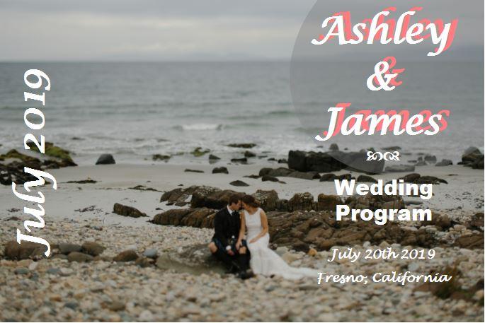 Beach style wedding program