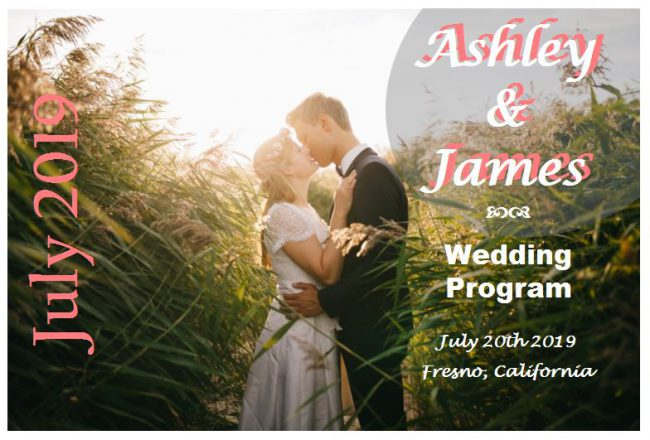free wedding program designs