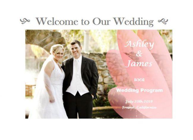 make a wedding program fan