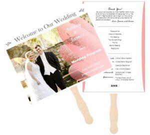 Flower theme wedding program