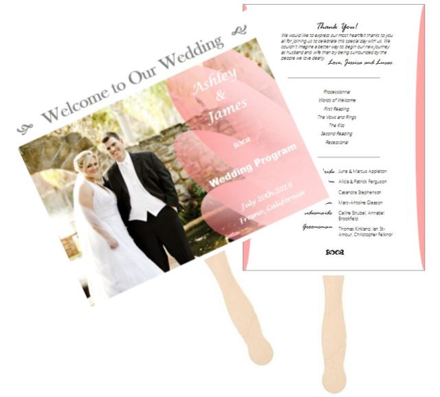 make a wedding program fan outside the box wedding