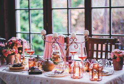 shabby chic wedding centerpieces