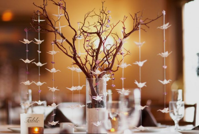 Tree wedding centerpiece