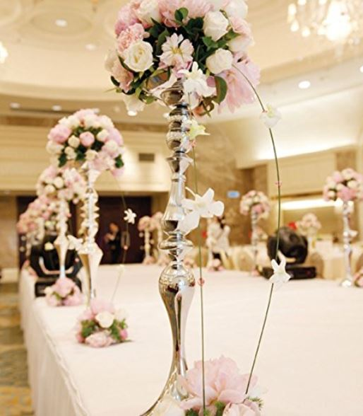tall candle holder wedding centerpiece