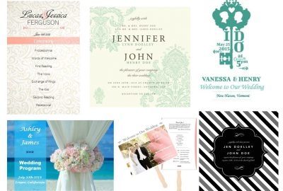Sample of Wedding Programs Examples