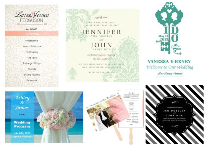 Sample Of Wedding Programs Examples  Outside The Box Wedding