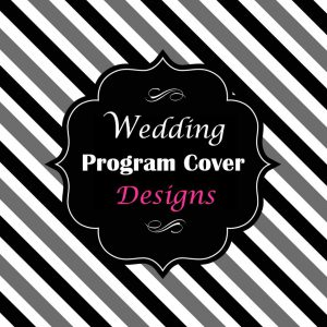 Wedding program cover designs