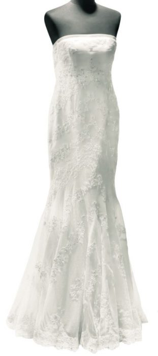 Mermaid style beach wedding dress