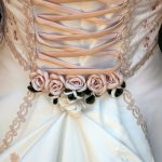 Lace up style wedding dress