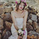 Hawaiian themed wedding dresses