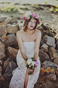 Hawaiian themed wedding dresses