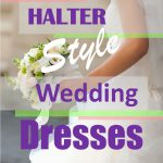 halter style wedding dresses