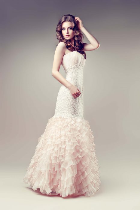 Trumpet shape wedding dress
