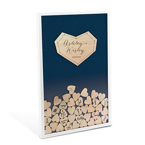 personalized wedding drop box guest book