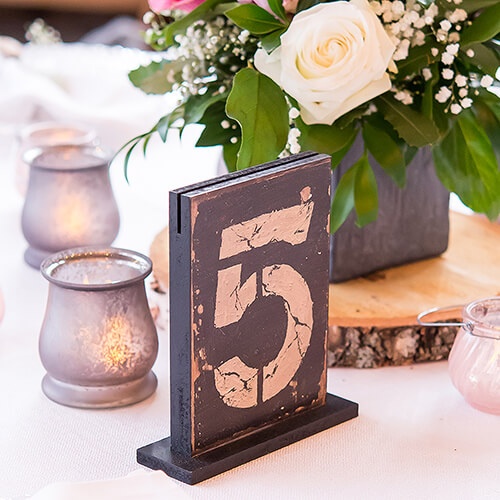 Wooden old fashion table number