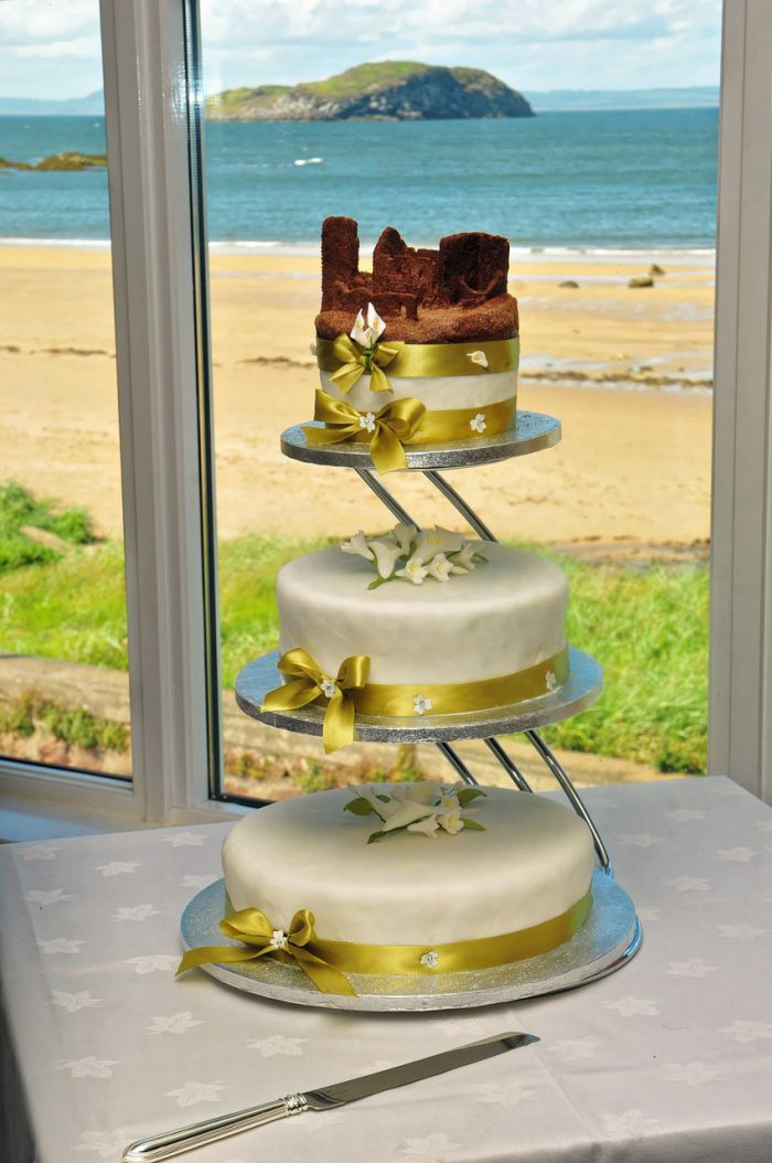 By the sea wedding theme cake