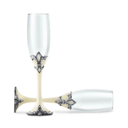 Medieval style champagne flutes