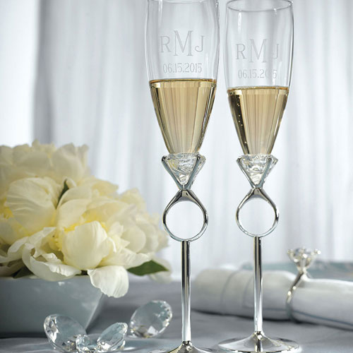 Wedding wine toasting glass